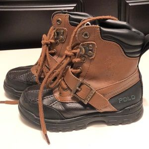 Polo Ralph Lauren  lace up and Velcro buckle boots